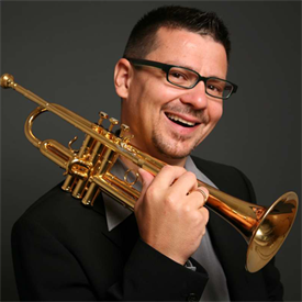This pcture shows the leader of HSD Big Band Mr. Martin Reuthner.