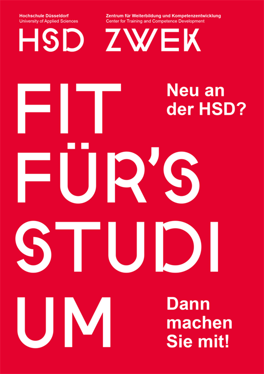 Handzettel Fit für's Studium