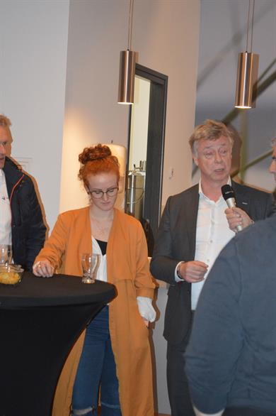 Christine Rehermann (HNR) mit Chris Ketelaars (RSM). Fotos (2): privat