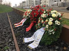 Kranzniederlegung anlässlich des Holocaust-Gedenktages