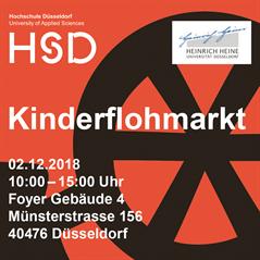 plakat zum kinderflohmarkt des familienbros der hochschule dsseldorf im herbst 2018 - Fh Dusseldorf Online Bewerbung