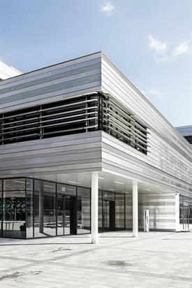 View of the entrance of the new HSD building at campus Derendorf.