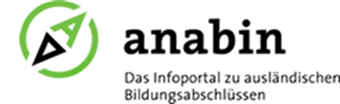logo of the Anabin Website, a green A in a green circle, similar to a compass